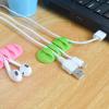 4 Pcs 5 Slot Multi-Purpose Self Adhesive Cable Organizer / Cable Clip
