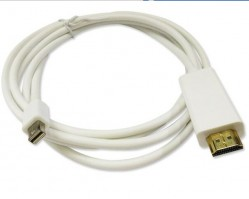 6 Feet Thunderbolt Mini Display Port DP To Male HDMI Adapter for Apple MacBook Air Pro iMac And Surface